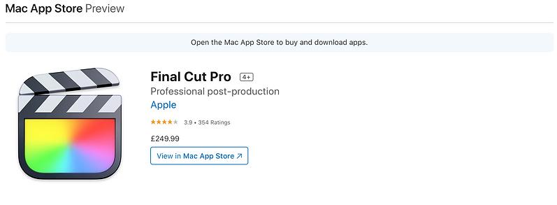 apple final cut pro pricing