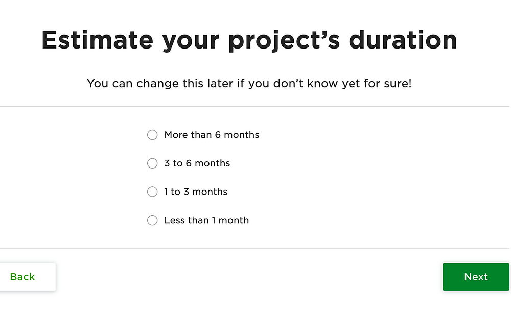 estimate project duration upwork