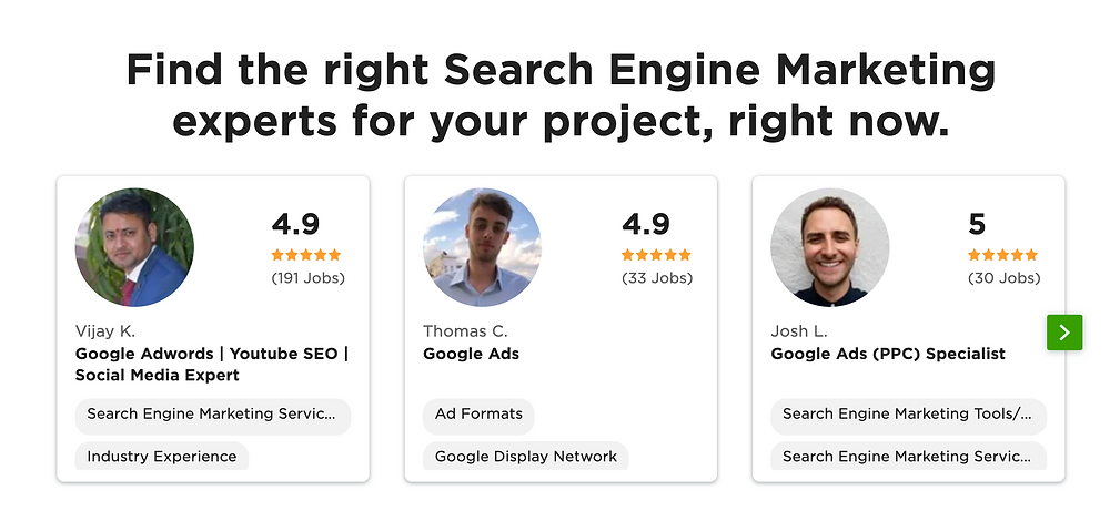 Upwork - Search Engine Marketing Experts