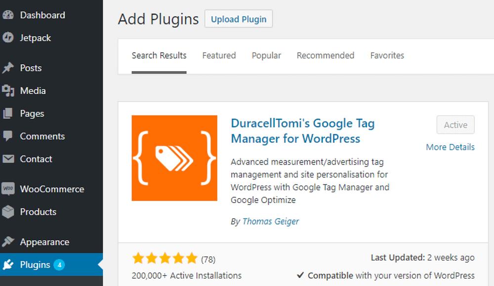 GTM plugin for wordpress - luca Tagliaferro