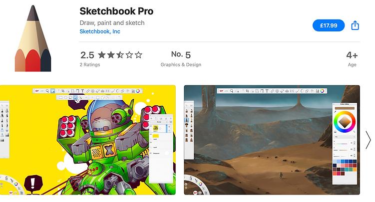 sketchbook pricing