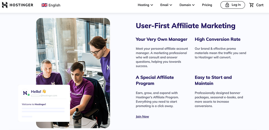 hostinger affiliates