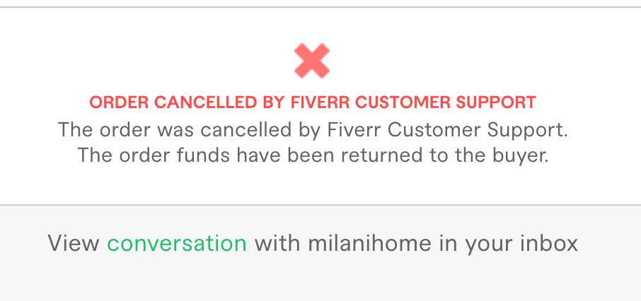 fiverr order cancelled