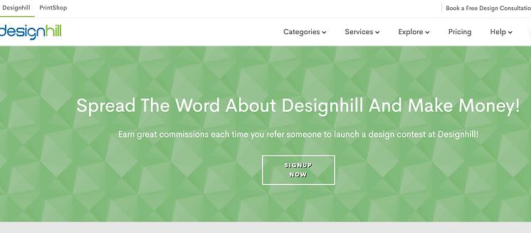 designhill affiliates