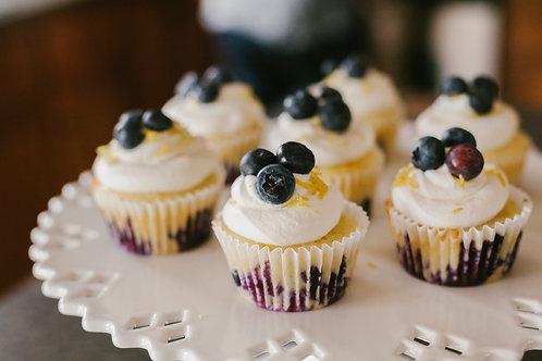 Banana Blueberry Pupcake