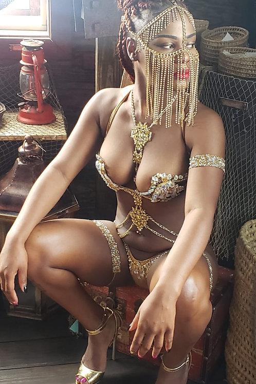 Masquerade Gold Chain Mask