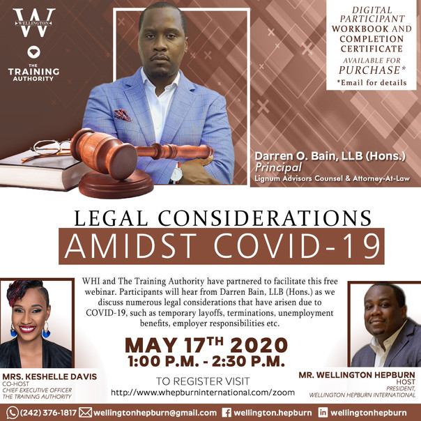 Legal Considerations Admist COVID 19_WHI