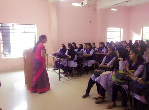 MY JOURNEY of Menstrual and Sex awareness classes.