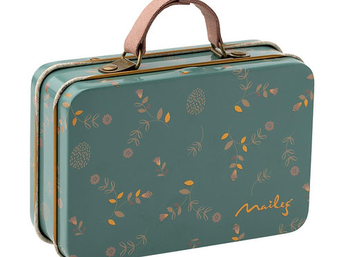Koffer mit Blümchenprint - grün