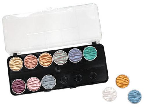 Perlglanz Wasserfarben Coliro 12er Set - Mix