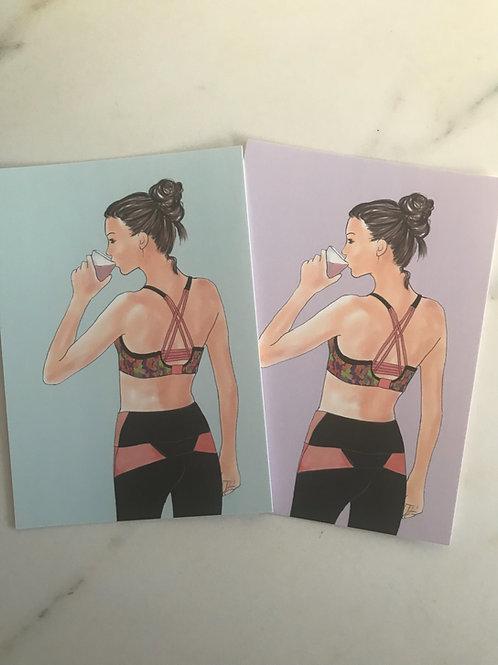 """Candy Postkarte """"Yogagirl"""""""