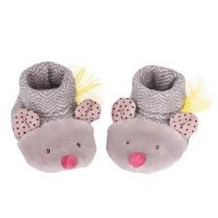 Baby-Finkli von Moulin Roty - Mäuse grau