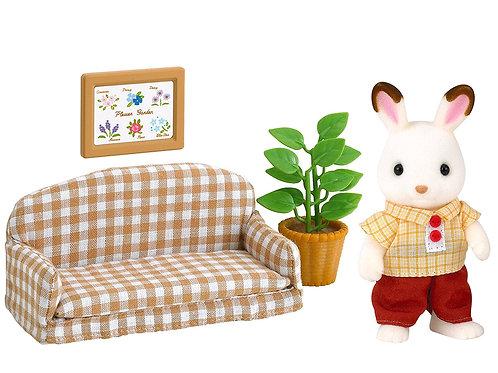Schokohasen Vater Set mit Sofa