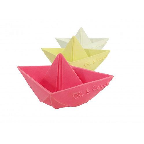 Badeboot Origami aus Naturkautschuk