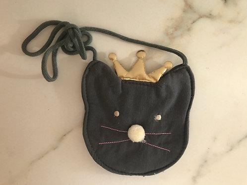 Kleines Katzentäschchen mit Krone