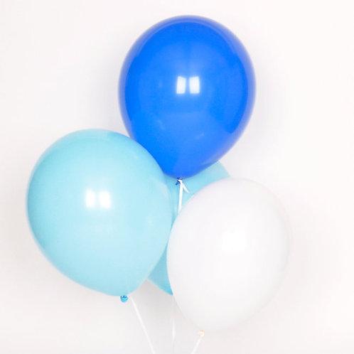 10er Set Ballone - Blau Töne