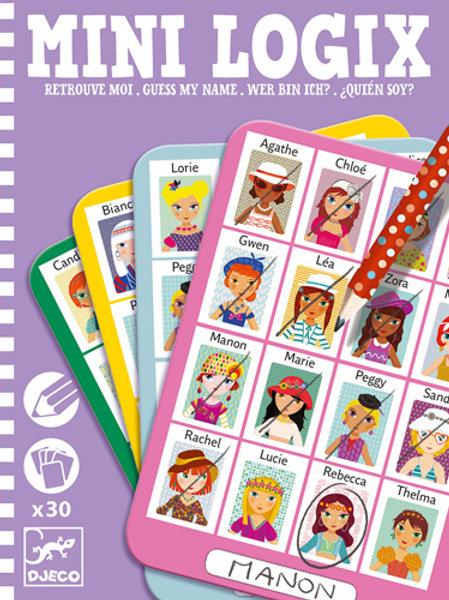 Wer bin ich - Spiel für unterwegs -Mädchenköpfe