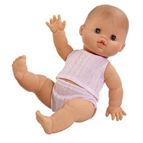 Babypuppe Mädchen Europa  - 34 cm in Unterwäsche