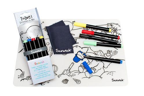 Reise-Malmatte aus Silikon mit 5 Stiften