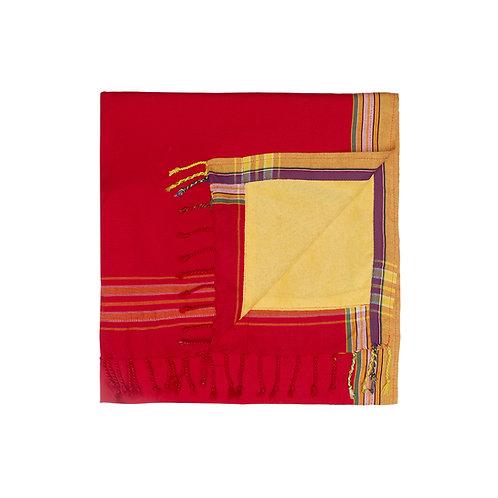 Wunderschönes Strandtuch - Rot/gelb - KT10
