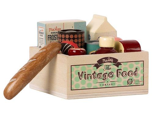 Vintage-Food Box mit 9 Produkten aus Holz