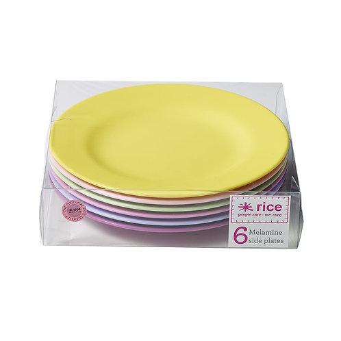 6er Set farbige Teller - Mädchentraum