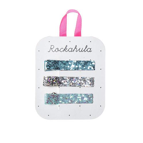 3er Set Glitter Haarspangen von Rockahula