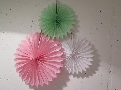 Rosetten aus Seidenpapier - 3er Set