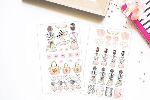 Summer Girl Sticker - handgemachte Stickers