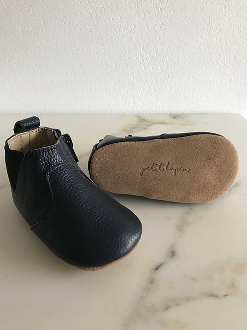 Kleine Booties aus Leder - dunkelblau