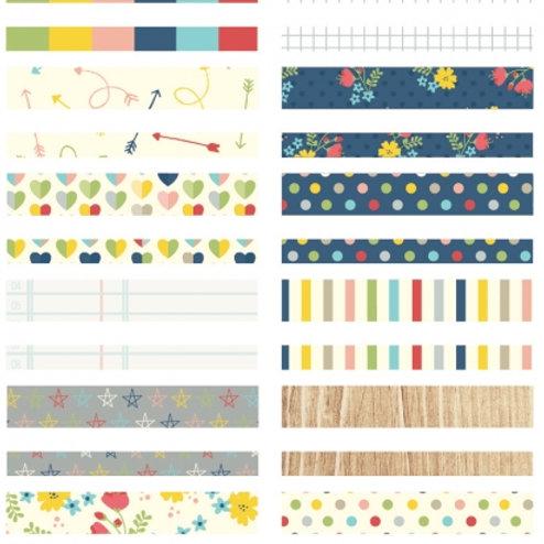 Carpe Diem - Designer Washi Tape (B) - 24 Blätter