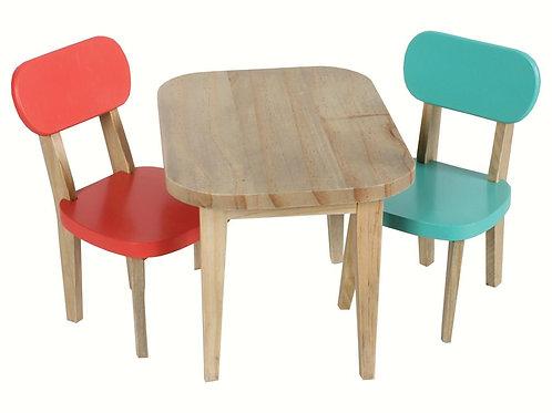 Tisch fürs Hasenhaus mit 2 Stühlen