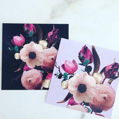 Blumenkarte quadratisch