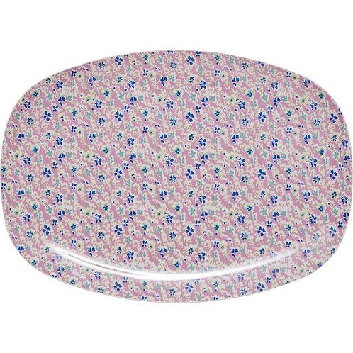 Wunderschöne Zvieri Platte - rosa Blümchen
