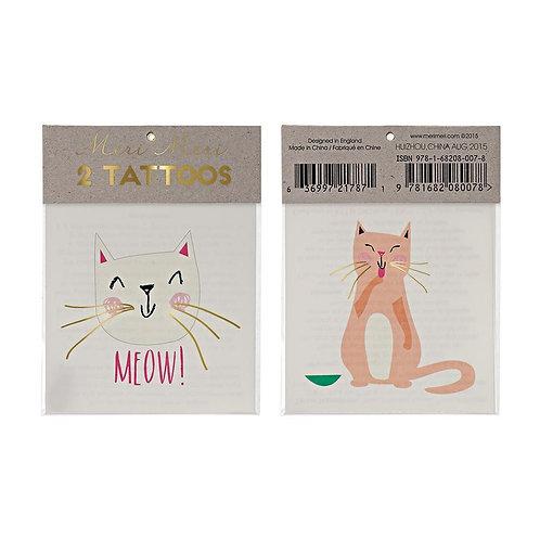 Katzen-Tattoos von Meri Meri