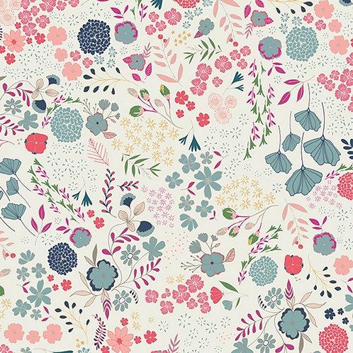 Baumwoll Stoff - Wunderschönes Blumenmuster