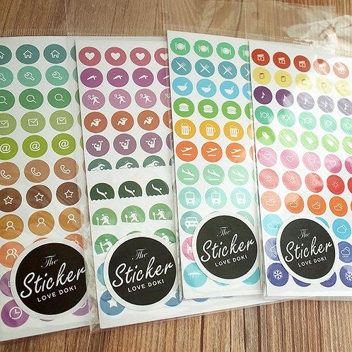 2er Set Stickers für Dokibook (Agenda)