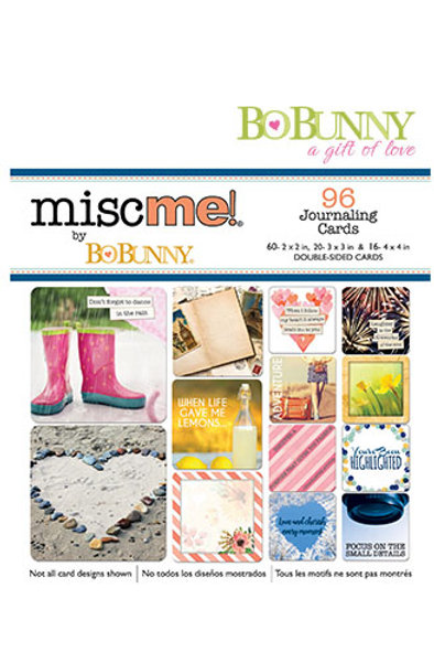 Bo Bunny  - `Misc me ` journaling cards - 96 Stk