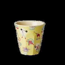 Kleiner Melaminbecher von RICE - Zirkus gelb