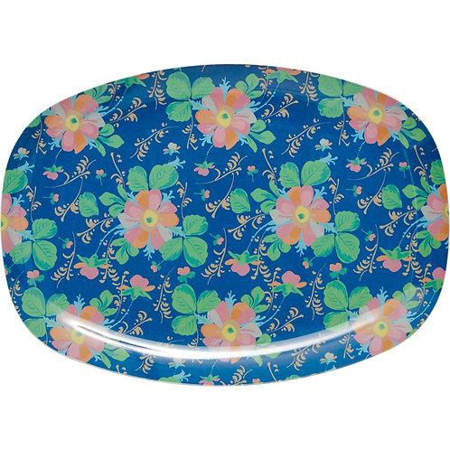 Wunderschöne Zvieri Platte - Blaue Blumen