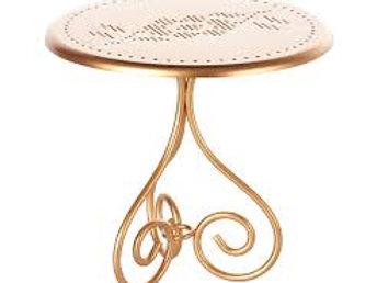 Vintage Tisch aus Metall - gold