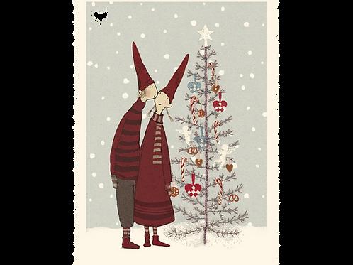 Kleine Weihnachtskarte von Maileg - Hasenpaar