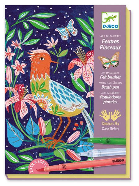 Pinselstifte Im Garten  - Schritt für Schritt entstehen wunderschöne Bilde