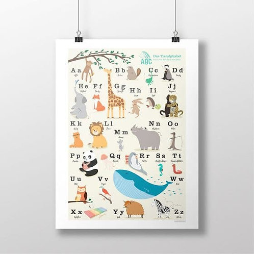 Tier-ABC Poster für Schüler