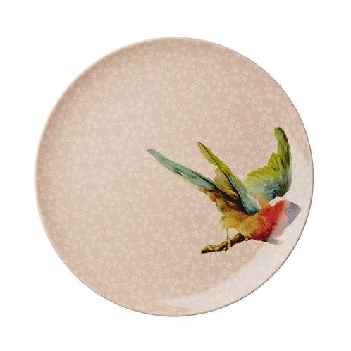 Teller mit Vogel Print von RICE