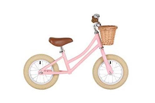 Laufrad Bobbin inkl. Weidenkörbchen - 12 Zoll - mint oder rosa