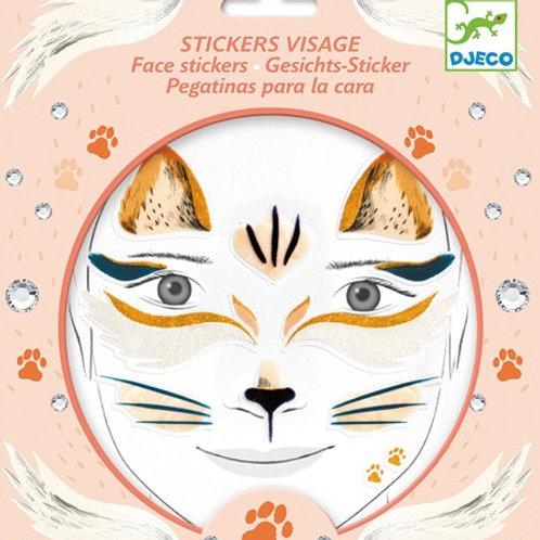 Gesichts-Sticker - Katze -  von Djeco