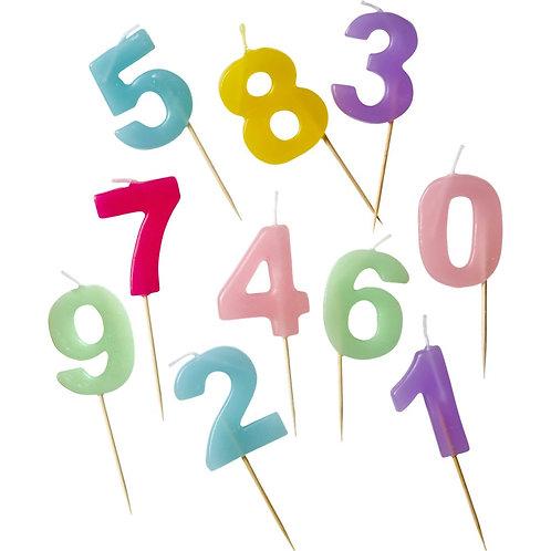 Nr 8 - Zahlen-Kerzen für den Geburtstagskuchen