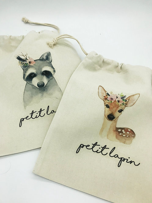 Baumwollsäckli mit Tiermotiv von Petit Lapin