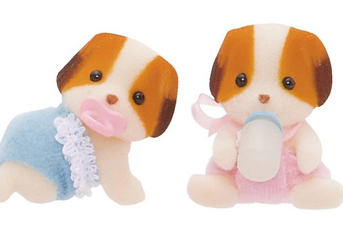 2er Set - Bernardiner Hunde Zwililnge